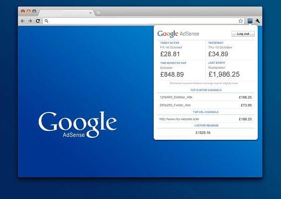 Adsense Toolbar Untuk Chrome
