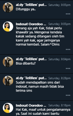 Indosat Tidak Bisa Terima SMS