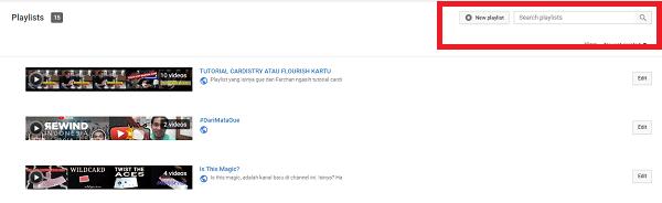 Membuat Playlist Channel Youtube