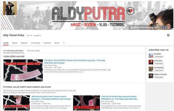 Merapihkan Halaman Depan Channel Youtube