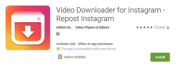 Download Video di Instagram Menggunakan Aplikasi Video Downloader