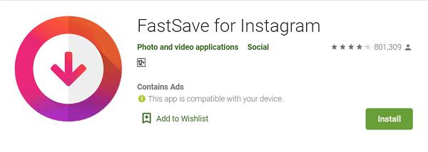 Download Video di Instagram Menggunakan FastSave
