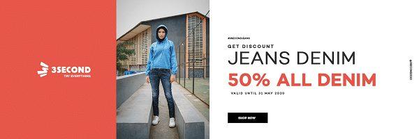 Promo Jeans Denim 3second