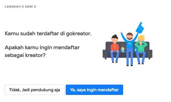 Cara Mendaftar di GoKreator