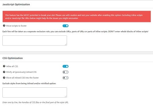JavaScript Setting Speed Booster Pack Mempercepat Loading Blog WordPress