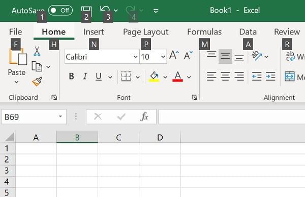 Shortcut Excel