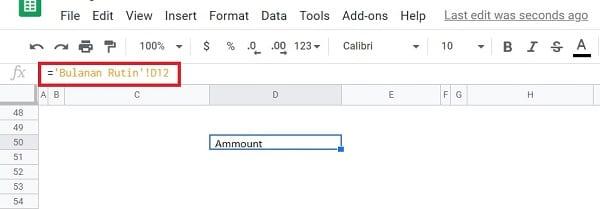 Mengambil Data Dari Sheet Lain