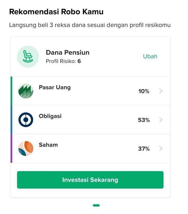 Pembelian di Aplikasi Bibit